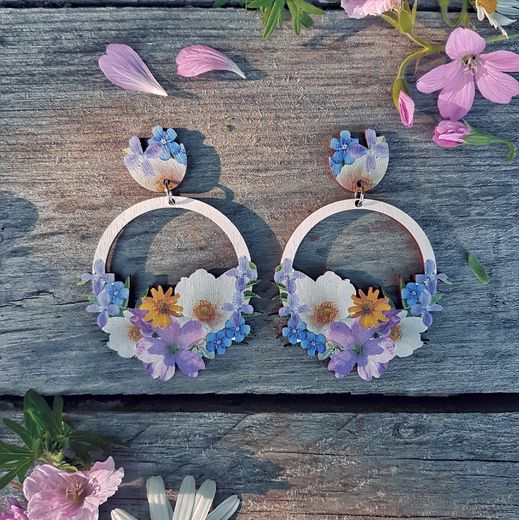 Seven Flowers -earrings