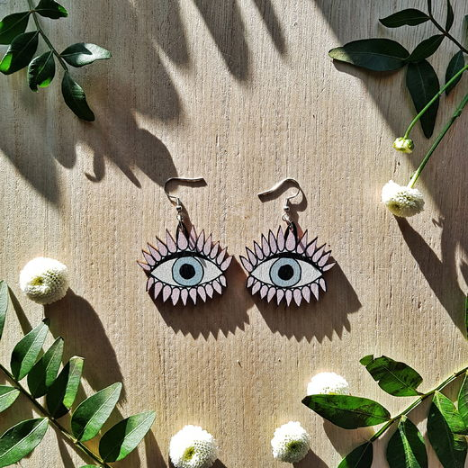 All Eyes On Us, pink -earrings