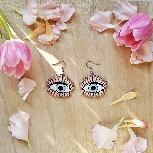 All Eyes On Us, peach -earrings