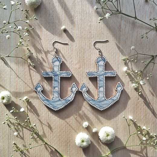 Anchor, Wave of Change -earrings